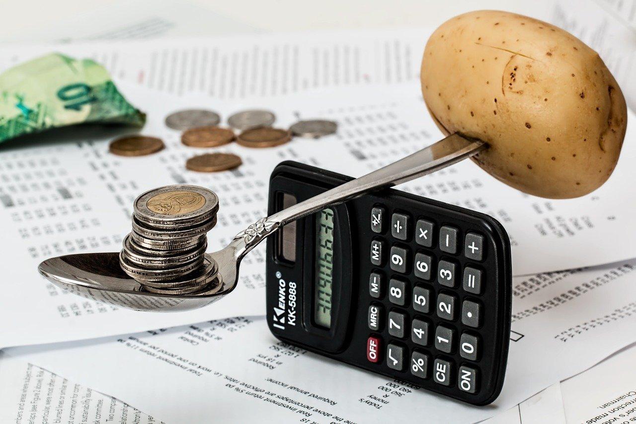 calculator and potato